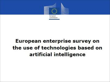 European enterprise survey on the use of technologies based on artificial intelligence